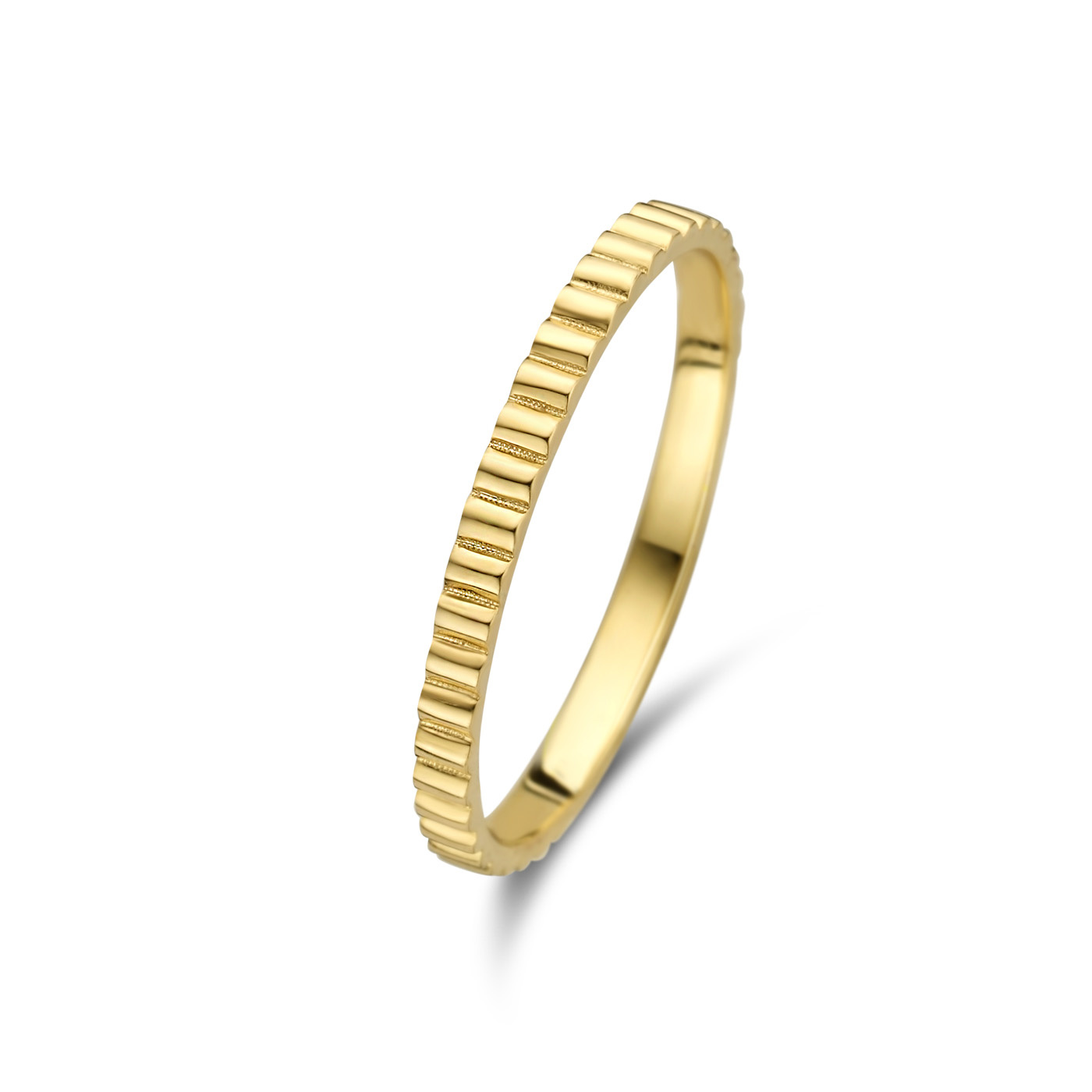 Isabel Bernard Le Marais Montgallet 14 karaat gouden ring geribbeld