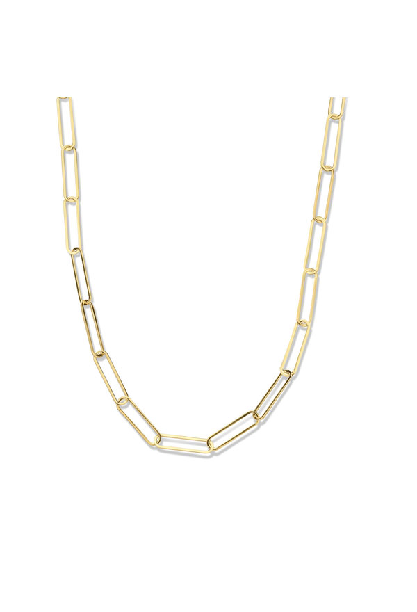 Isabel Bernard Aidee Louise 14 carat gold link chain