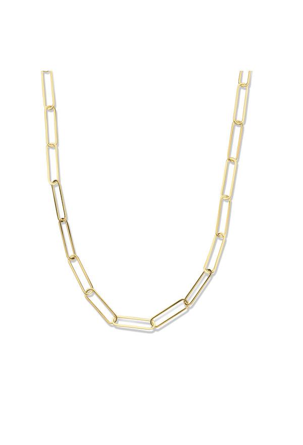 Isabel Bernard Aidee Louise 14 karat gold link chain