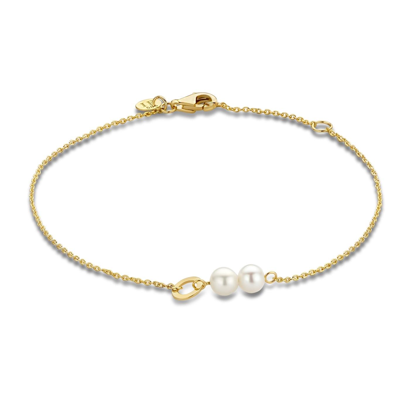 Isabel Bernard Belleville Luna 14 karaat gouden armband met zoetwaterparels