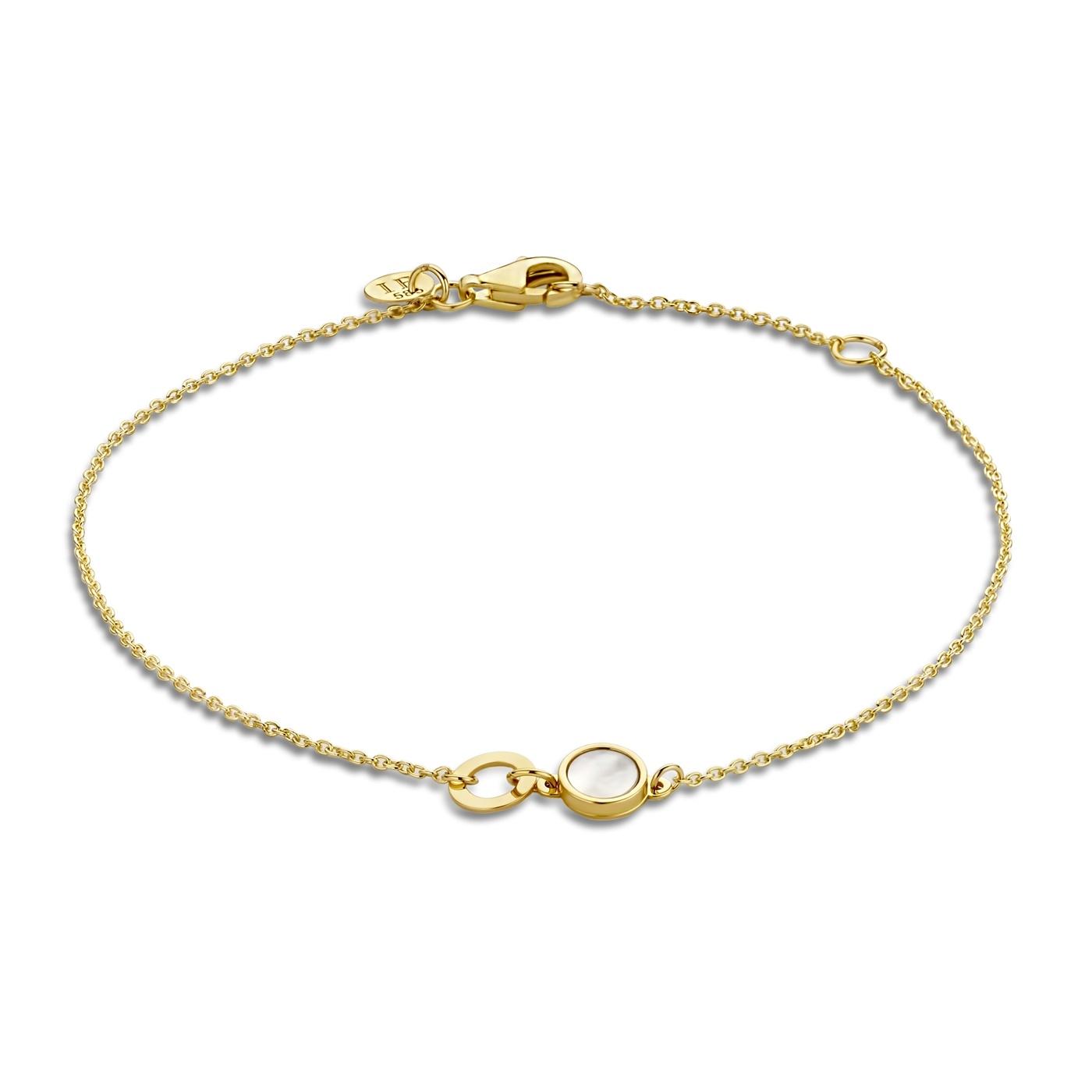 Isabel Bernard Belleville Luna 14 karaat gouden armband met zoetwaterparel