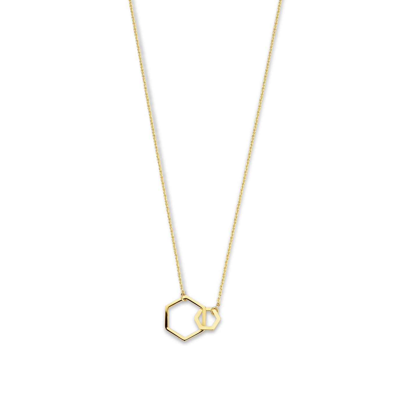 Isabel Bernard Belleville Elena 14 karat gold necklace with hexagon