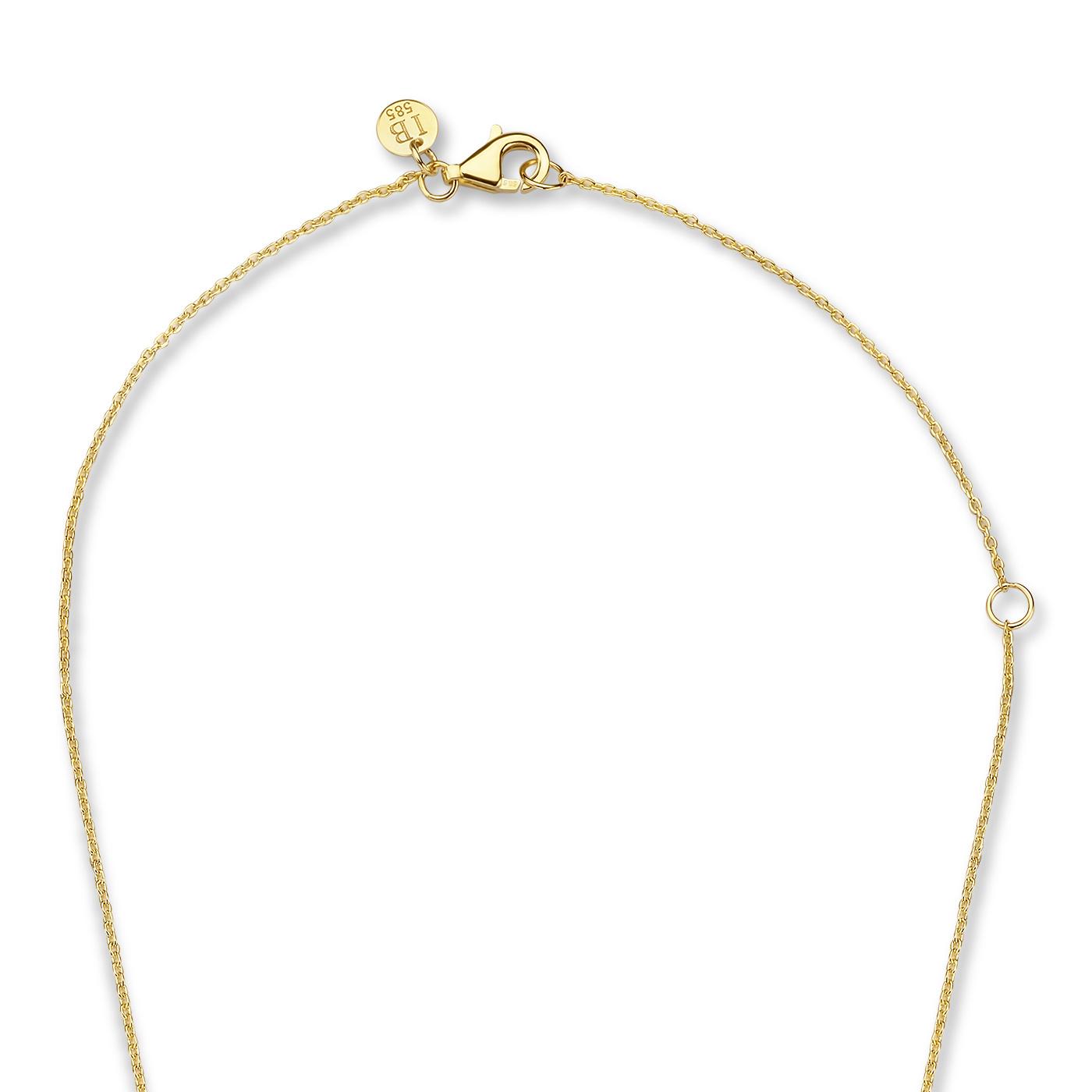Isabel Bernard Belleville Luna 14 karaat gouden collier met zoetwaterparel