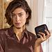 Isabel Bernard Honoré Jules sort læder lynlås punge lavet af kalveskind