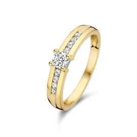 Isabel Bernard Le Marais Estee 14 karaat gouden ring zirkonia