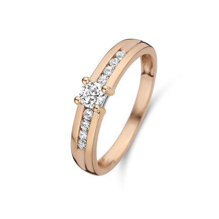 Isabel Bernard La Concorde Lou-Anne anello in oro rosa 14 carati
