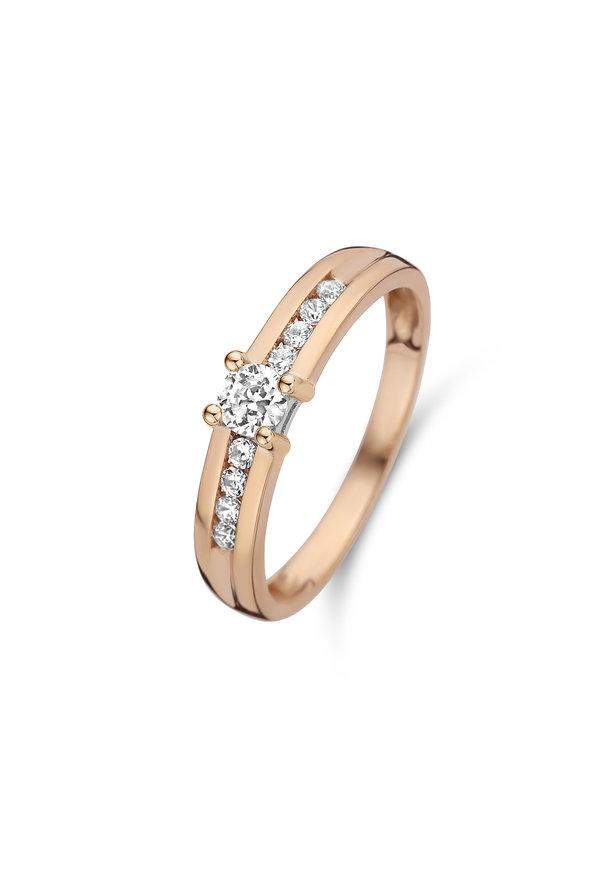 Isabel Bernard La Concorde Lou-Anne 14 carat rose gold ring