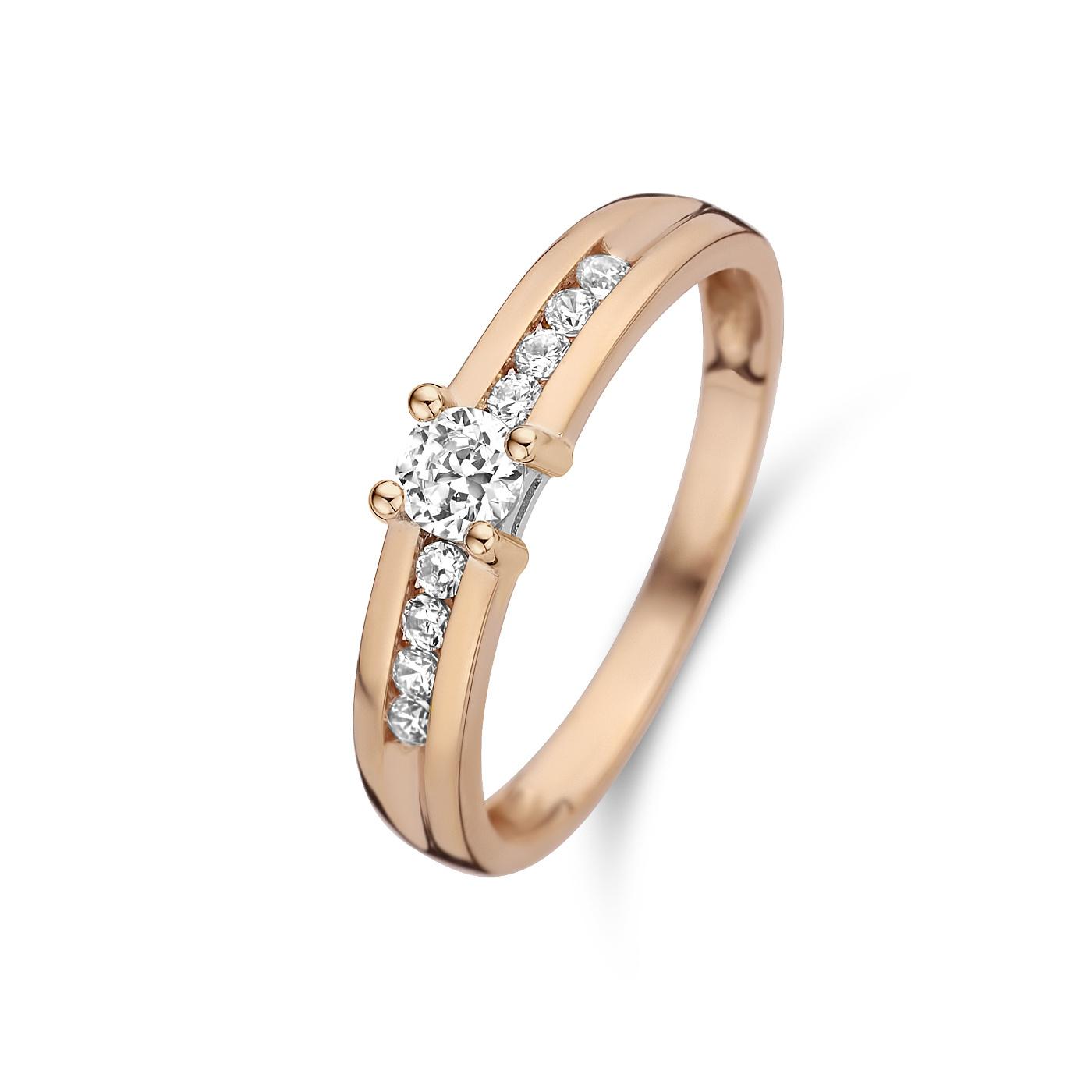 Isabel Bernard La Concorde Lou-Anne 14 karat rose gold ring zirconia
