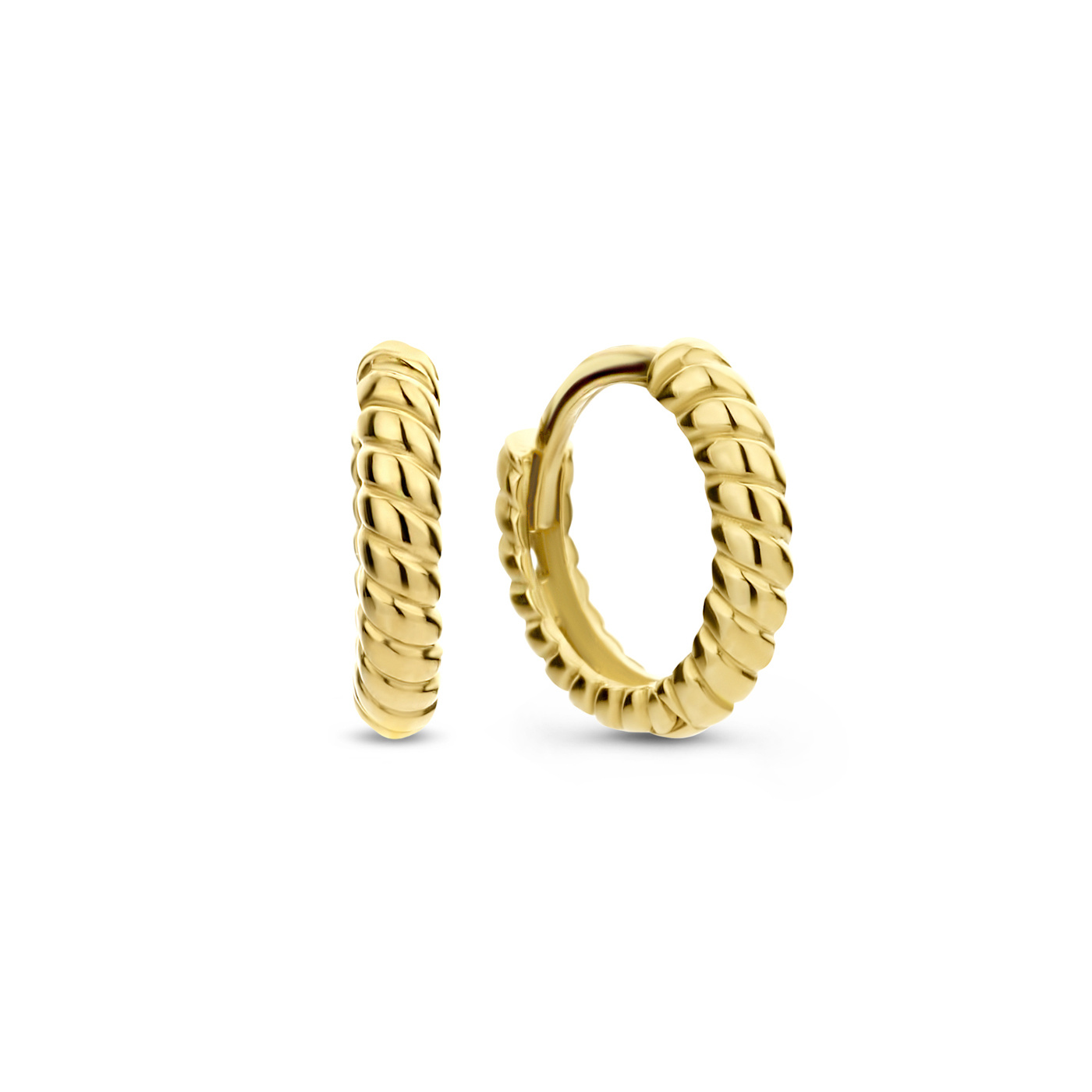 Isabel Bernard Orecchini a cerchio attorcigliati in oro 14 carati Le Marais Anne-Colette