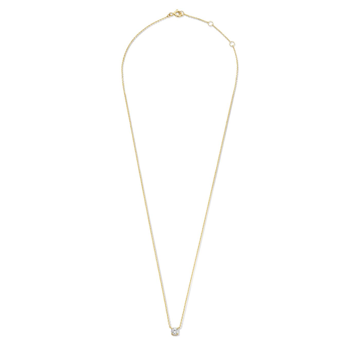Isabel Bernard Le Marais Garance 14 karaat gouden collier met zirkonia