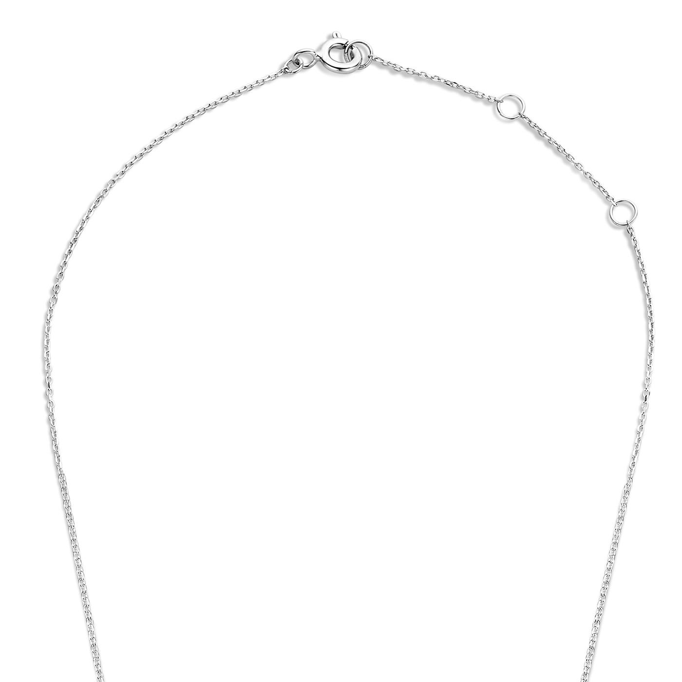 Isabel Bernard Saint Germain Hélione 14 carat white gold necklace zirconia