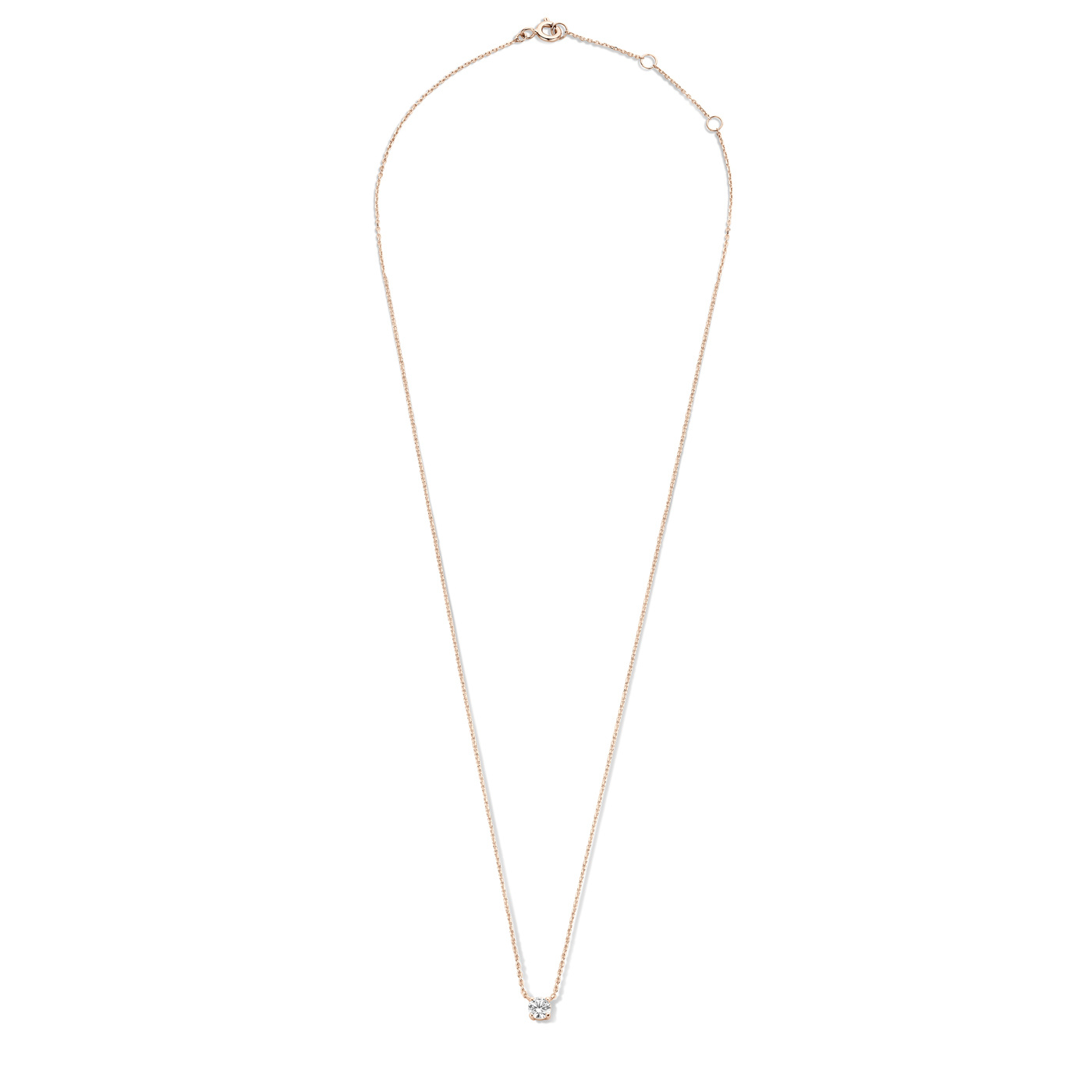 Isabel Bernard La Concorde Axelle 14 carat rose gold necklace zirconia