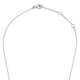 Isabel Bernard Collana con zircone in oro rosa 14 carati La Concorde Axelle
