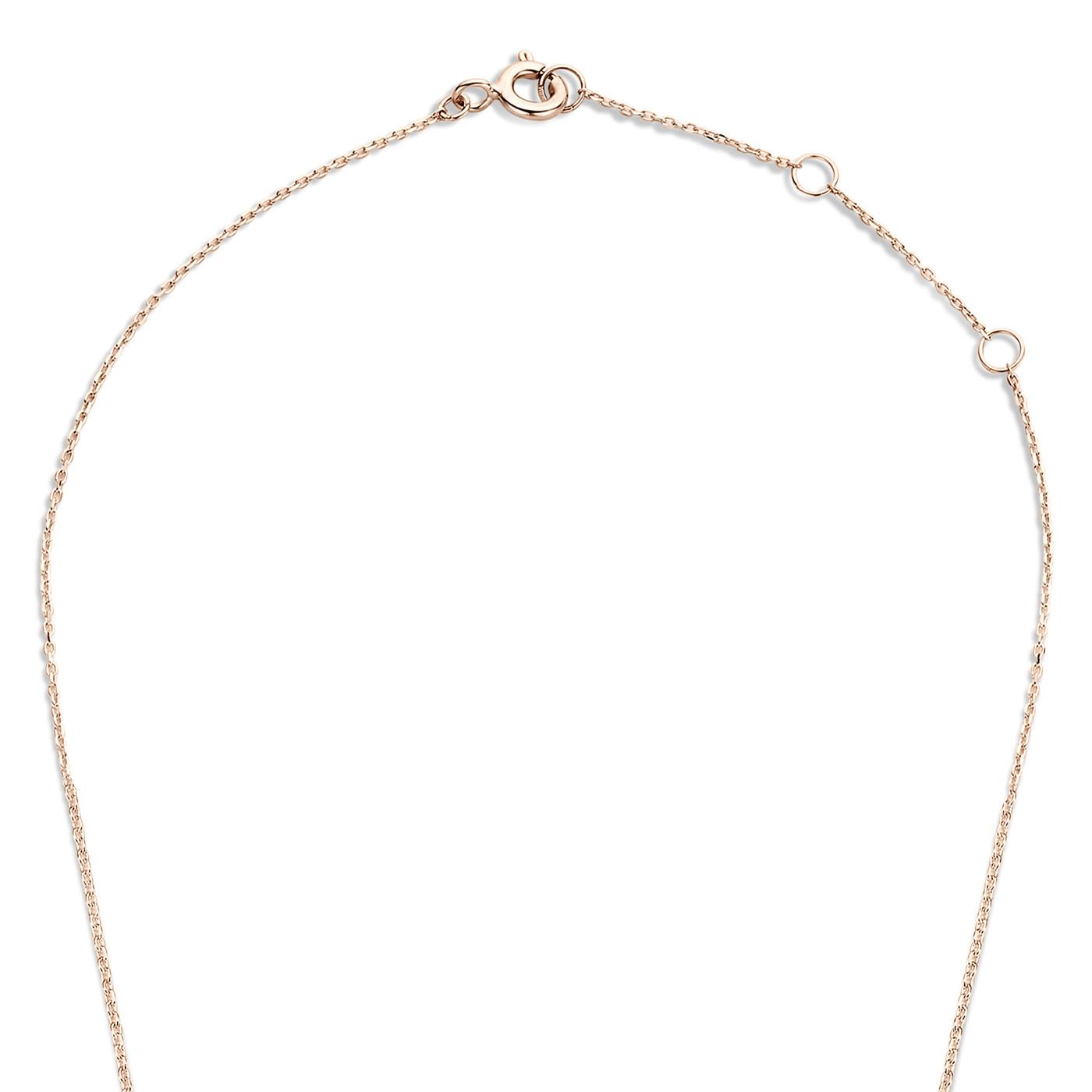 Isabel Bernard La Concorde Axelle 14 karaat rosé gouden collier met zirkonia