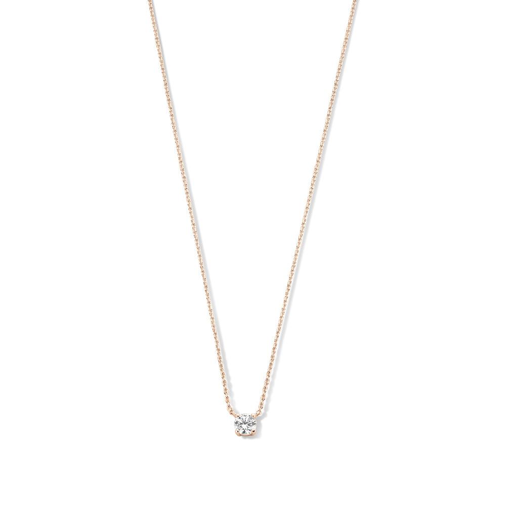 Isabel Bernard La Concorde Axelle 14 karat rose gold necklace with zirconia