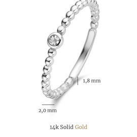 Isabel Bernard Saint Germain Clément 14 karat white gold ring with zirconia