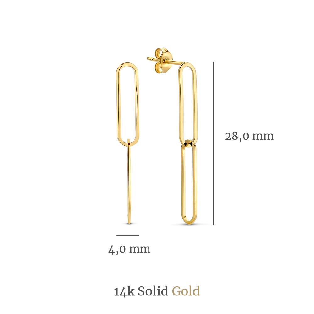 Isabel Bernard Aidee Ayla orecchini pendenti in oro 14 carati