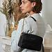 Isabel Bernard Honoré Lucie croco sort læder crossbody taske lavet af kalveskind