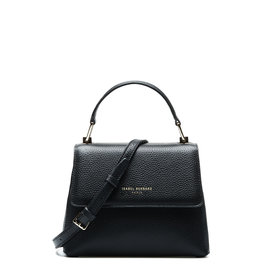 Isabel Bernard Femme Forte Heline schwarze Handtasche aus Kalbsleder