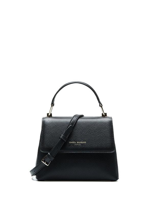 Isabel Bernard Femme Forte Heline svart läder handväska av kalvskinn
