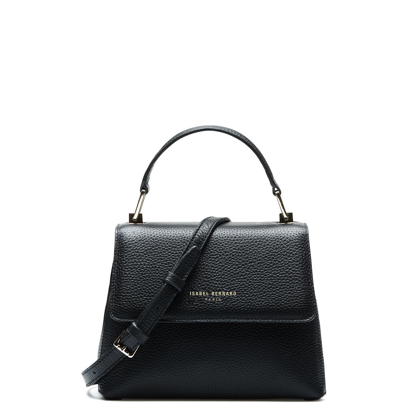 Isabel Bernard Femme Forte Heline sort læder håndtaske lavet af kalveskind