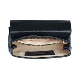 Isabel Bernard Femme Forte Heline black calfskin leather handbag