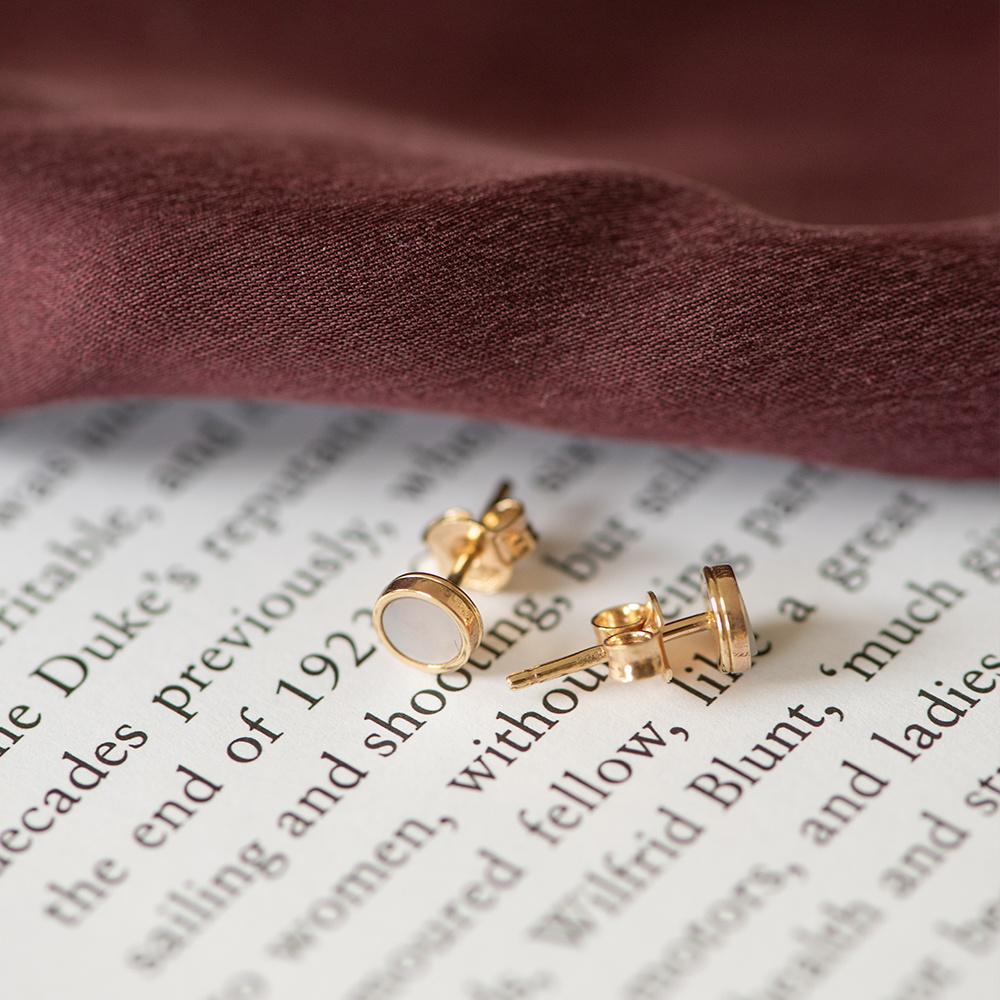 Isabel Bernard Belleville Lena 14 carat gold oorstekers