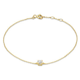 Isabel Bernard Le Marais Isabeau 14 karat gold bracelet with zirconia