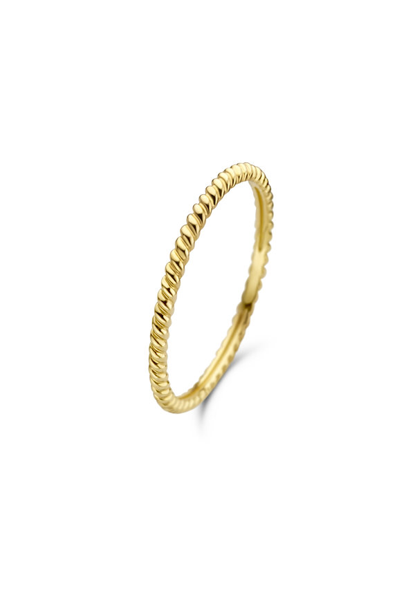 Isabel Bernard Asterope 14 karaat gouden twisted ring