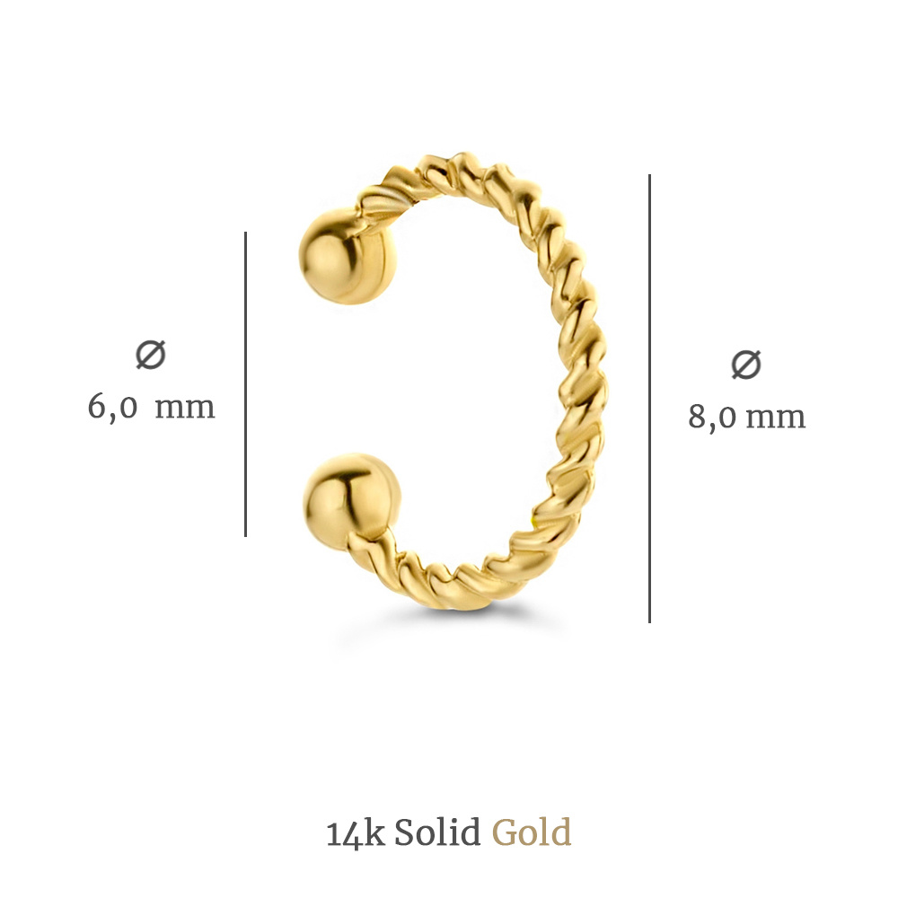 Isabel Bernard Le Marais Chéri 14 carat gold single ear cuff