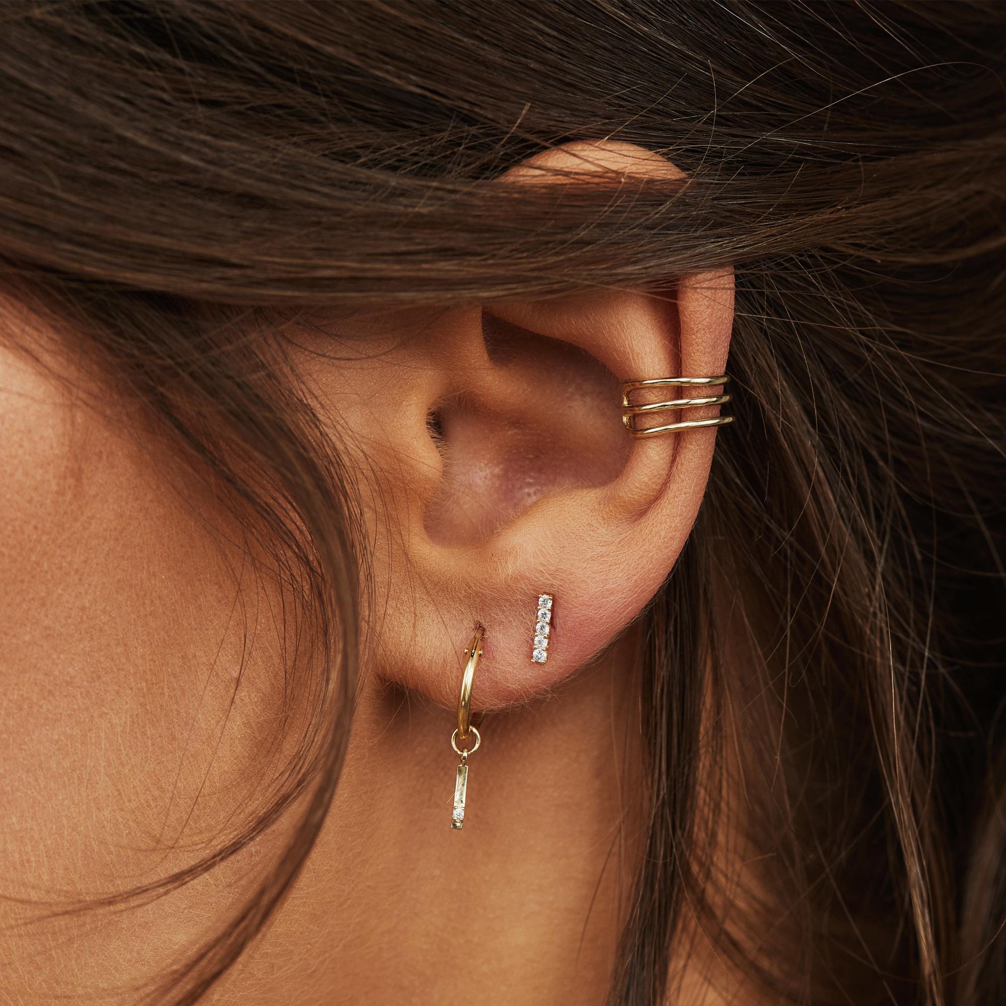 Isabel Bernard Le Marais Chéri 14 karat guld enkelt ear cuff