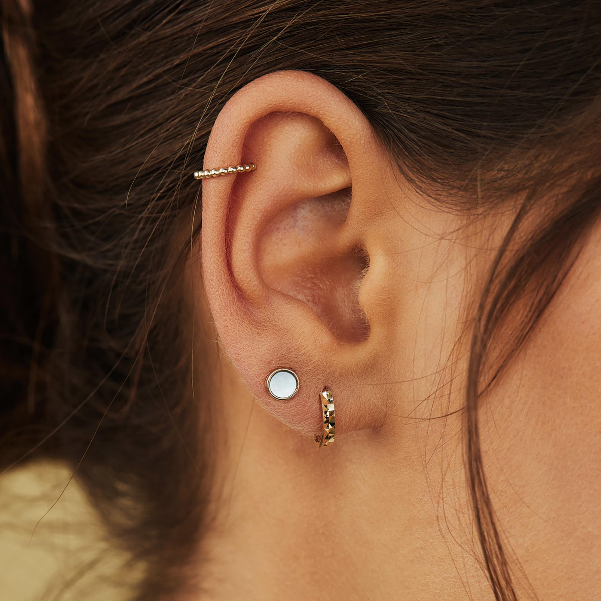 Isabel Bernard Le Marais Chéri singolo ear cuff in oro 14 carati