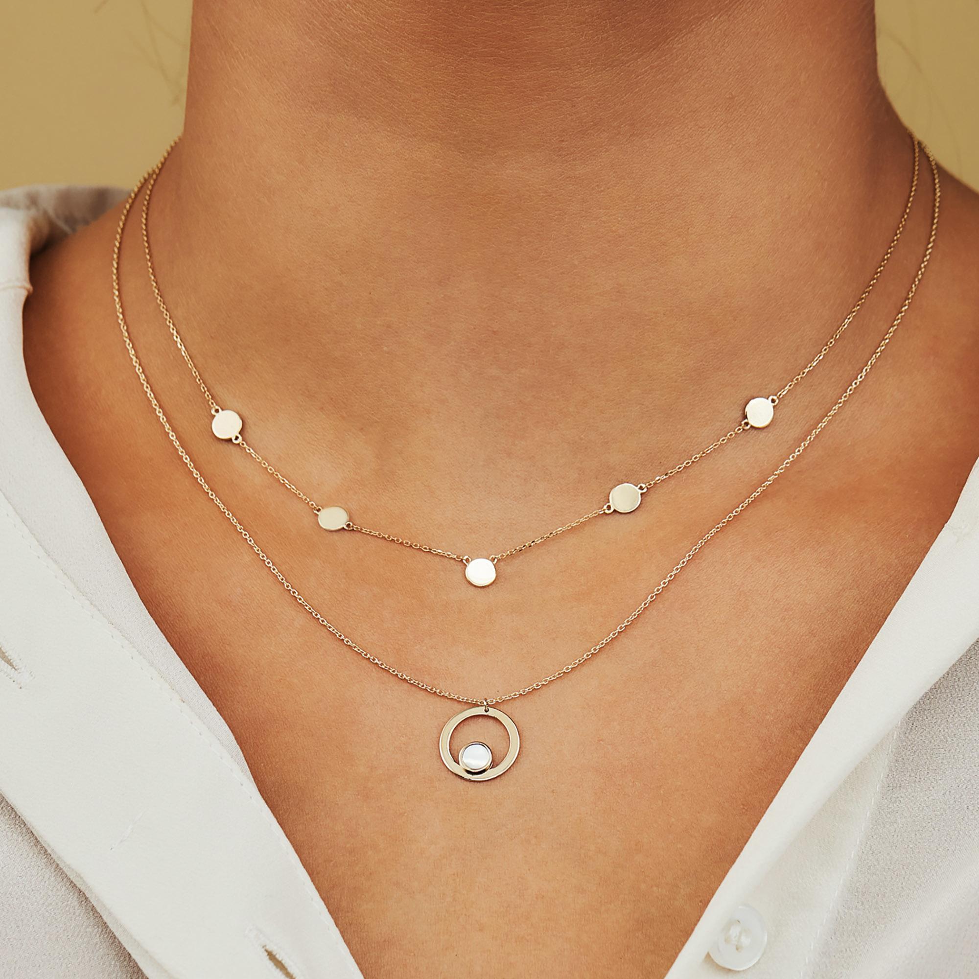 Isabel Bernard Belleville Luna collier en or 14 carats