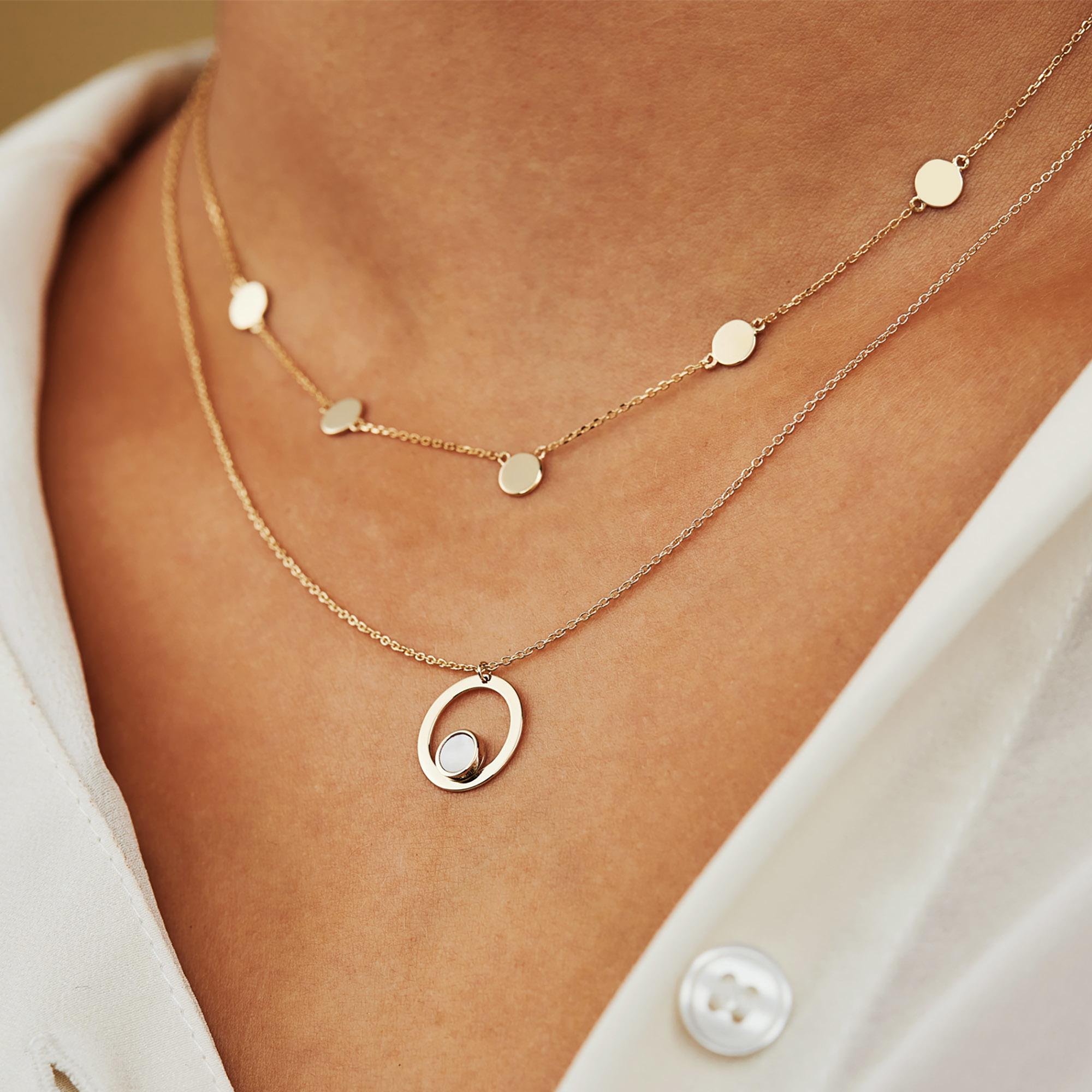 Isabel Bernard Belleville Luna 14 karat gold necklace with freshwater pearl