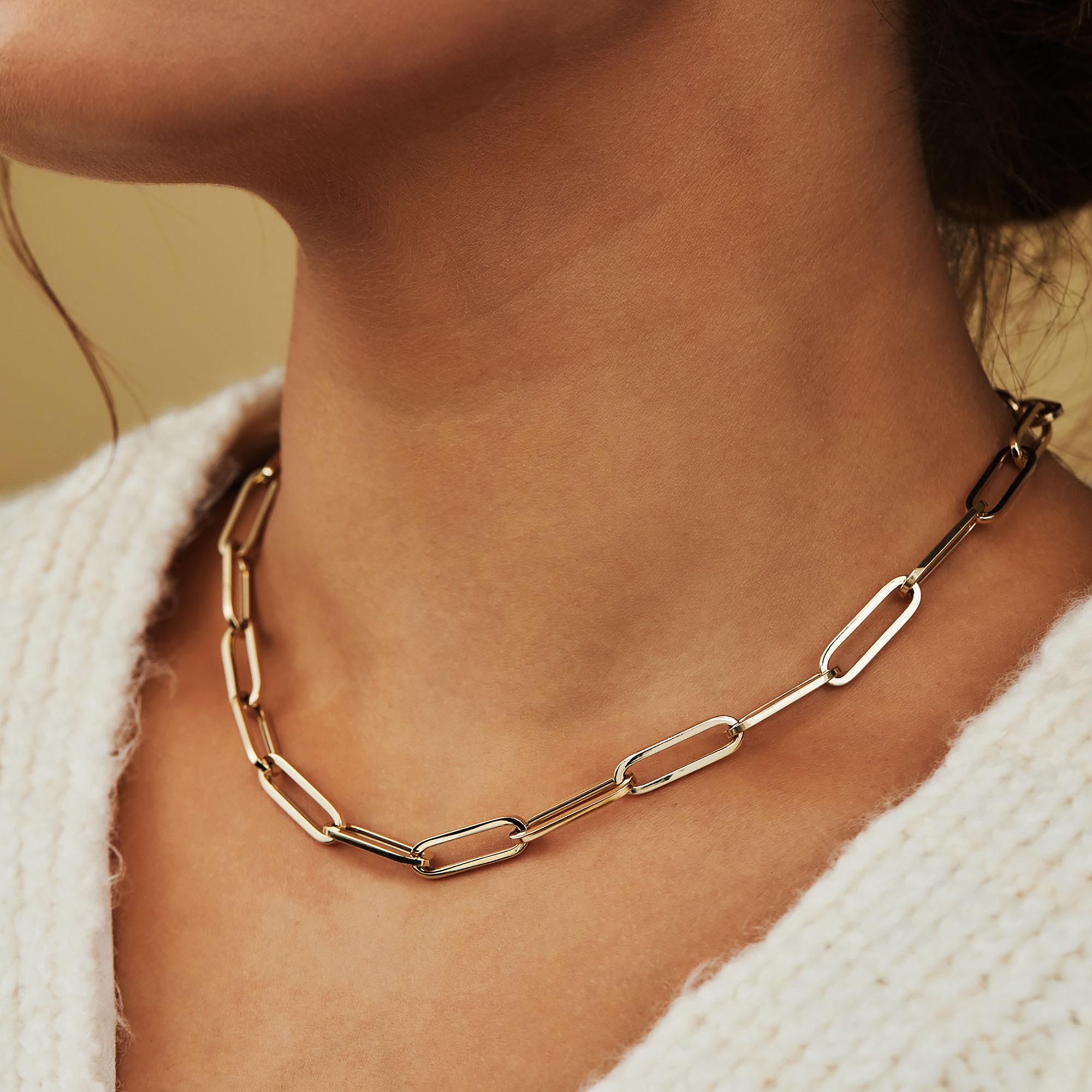 Isabel Bernard Aidee Idalie collana a maglie in oro 14 carati