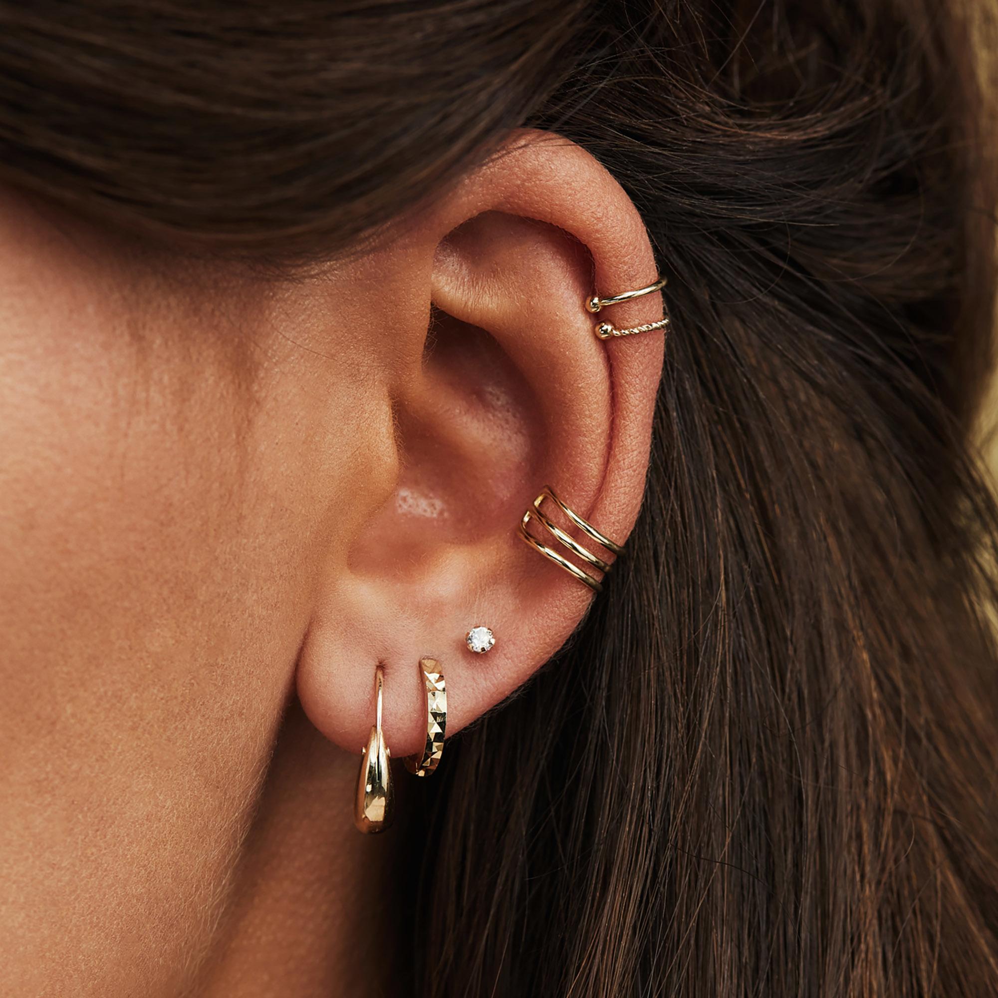 Isabel Bernard Rivoli Laure 14 carat gold earrings