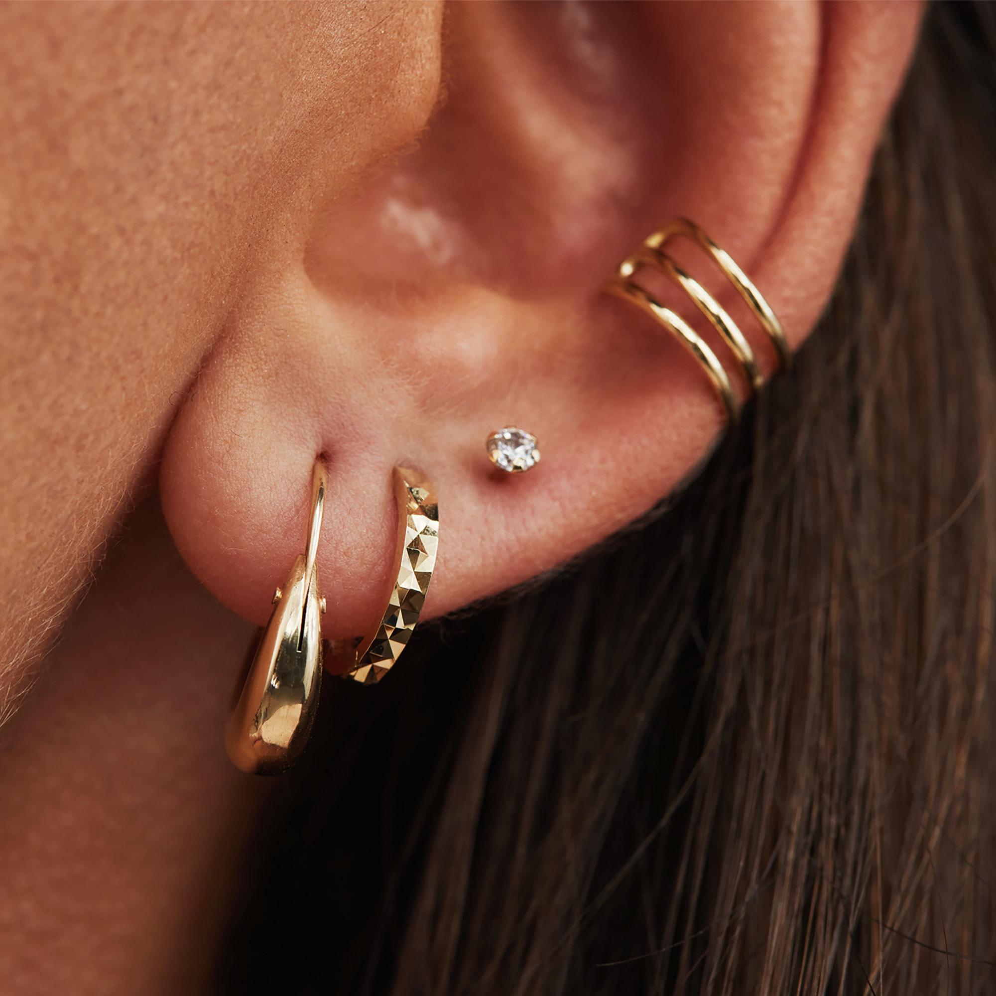 Isabel Bernard Le Marais Solene 14 karat gold hoop earrings