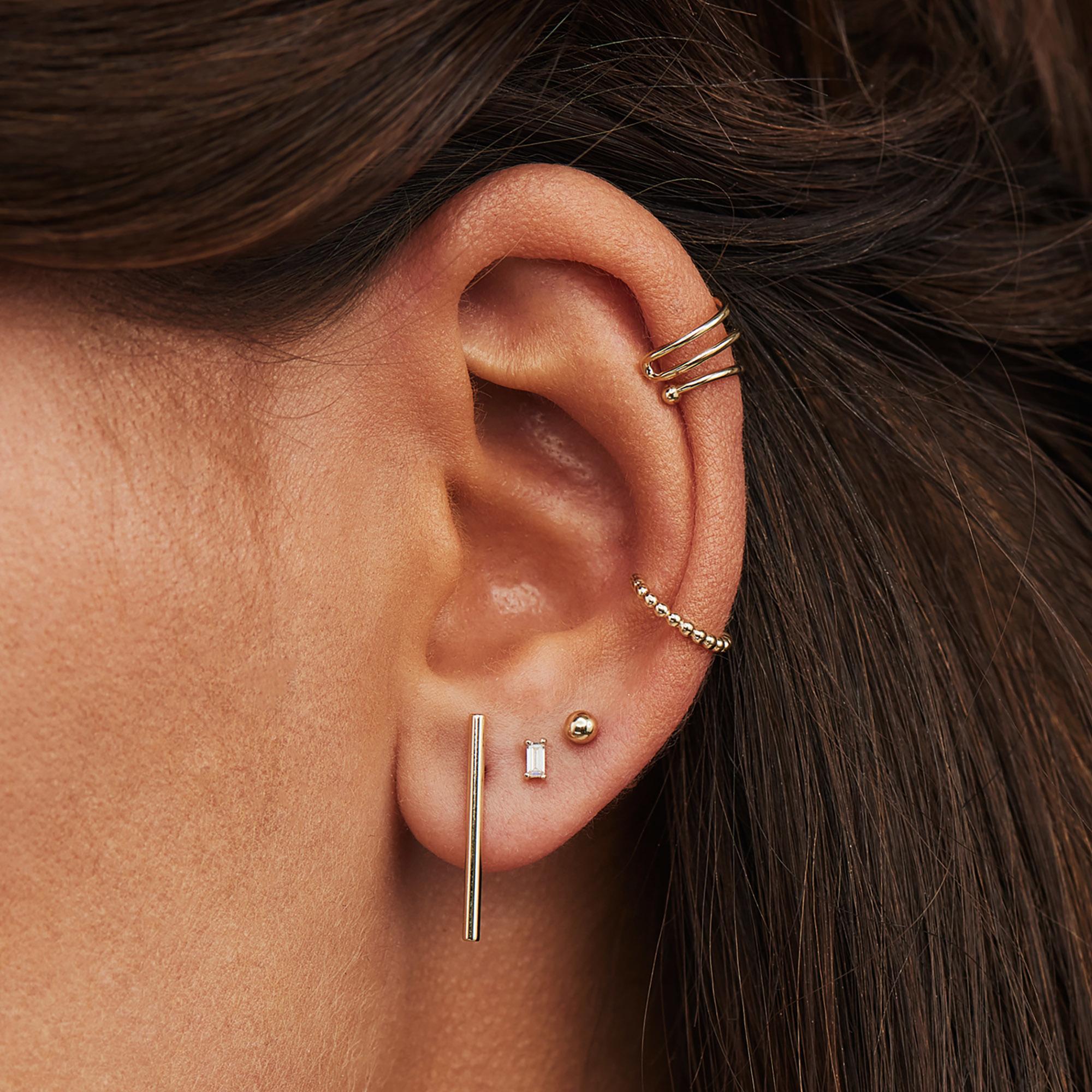 Isabel Bernard Le Marais Chéri 585er Gold Einzelner Ear Cuff mit Kugeln