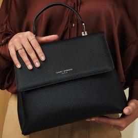 Isabel Bernard Femme Forte Gisel black calfskin leather handbag