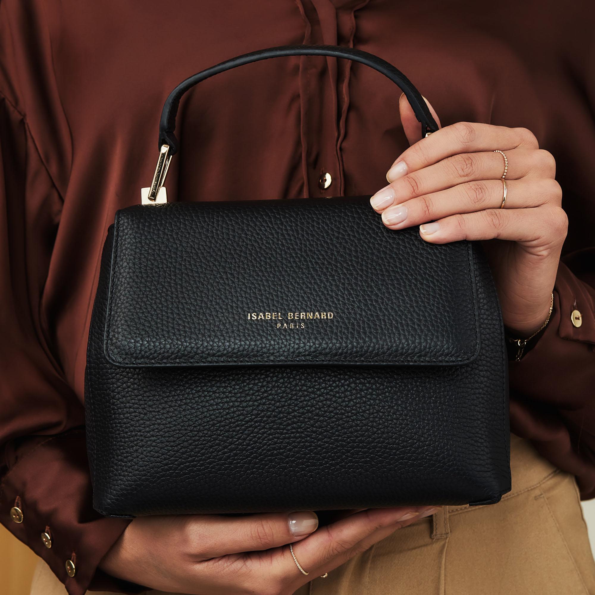 Isabel Bernard Femme Forte Heline sac à main en cuir de veau noir