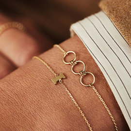 Isabel Bernard Belleville Anna 14 karaat gouden armband rondjes