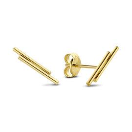 Isabel Bernard Le Marais Barbès 14 karaat gouden oorknoppen met staafjes