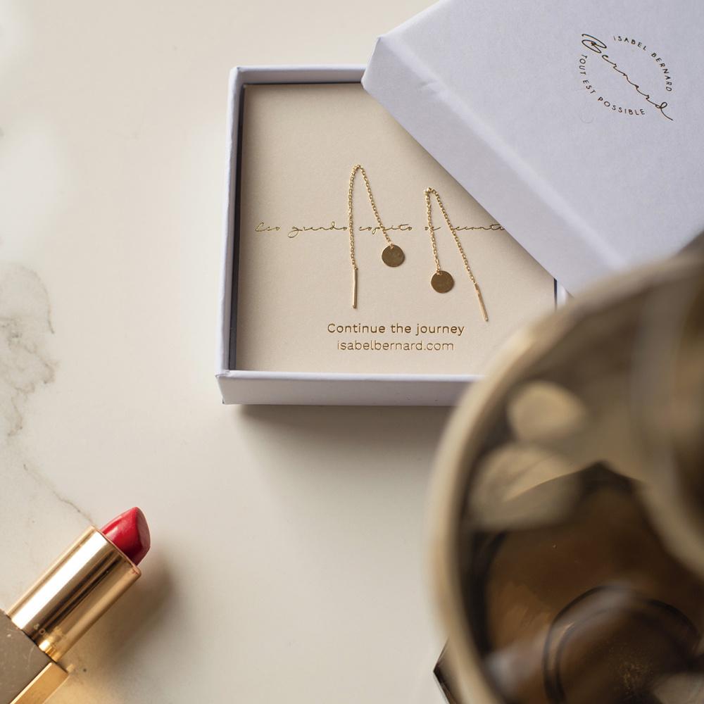 Isabel Bernard Le Marais Jeanne boucles d'oreilles pendantes en or 14 carats