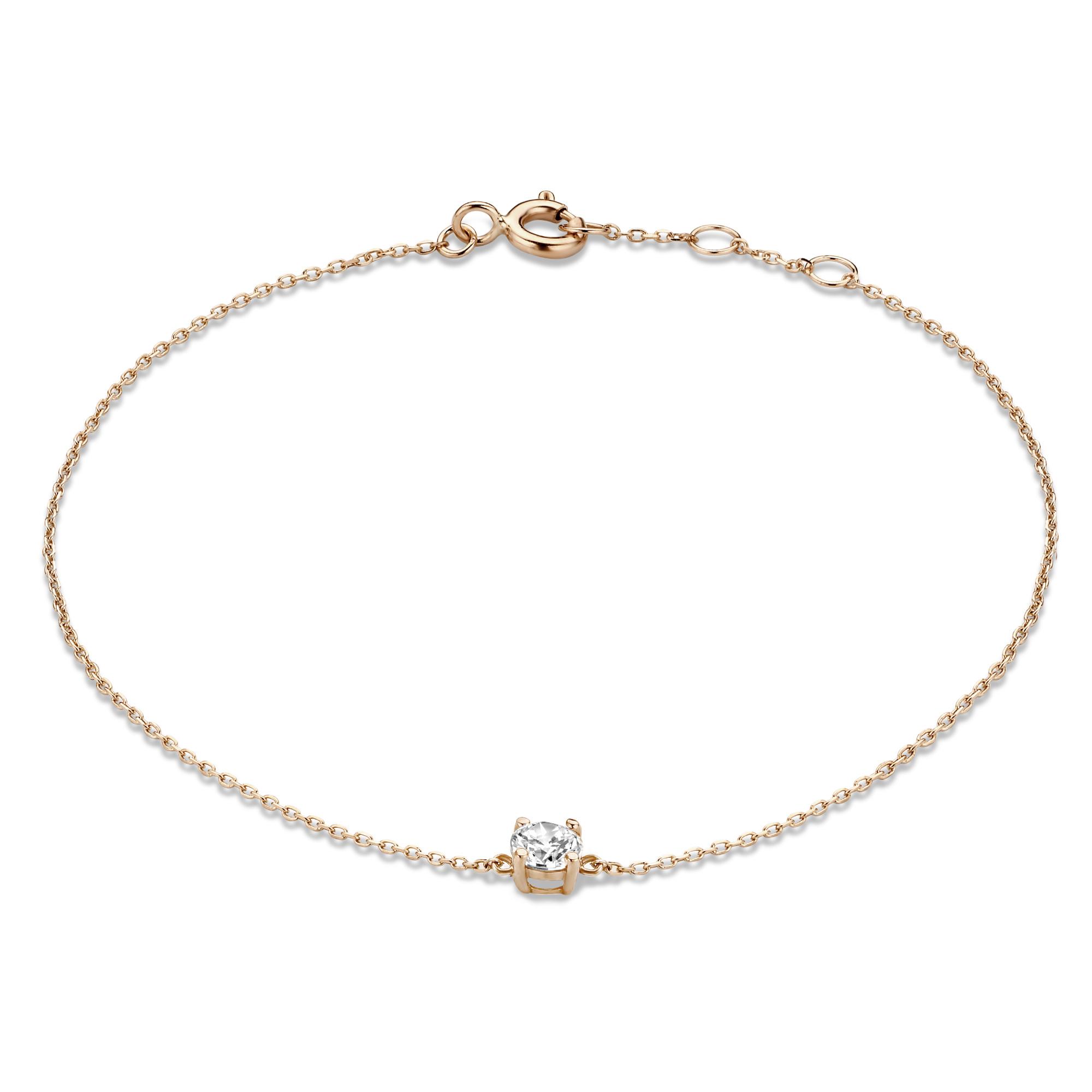 Isabel Bernard La Concorde Apolline 14 karaat rosé gouden armband met zirkonia