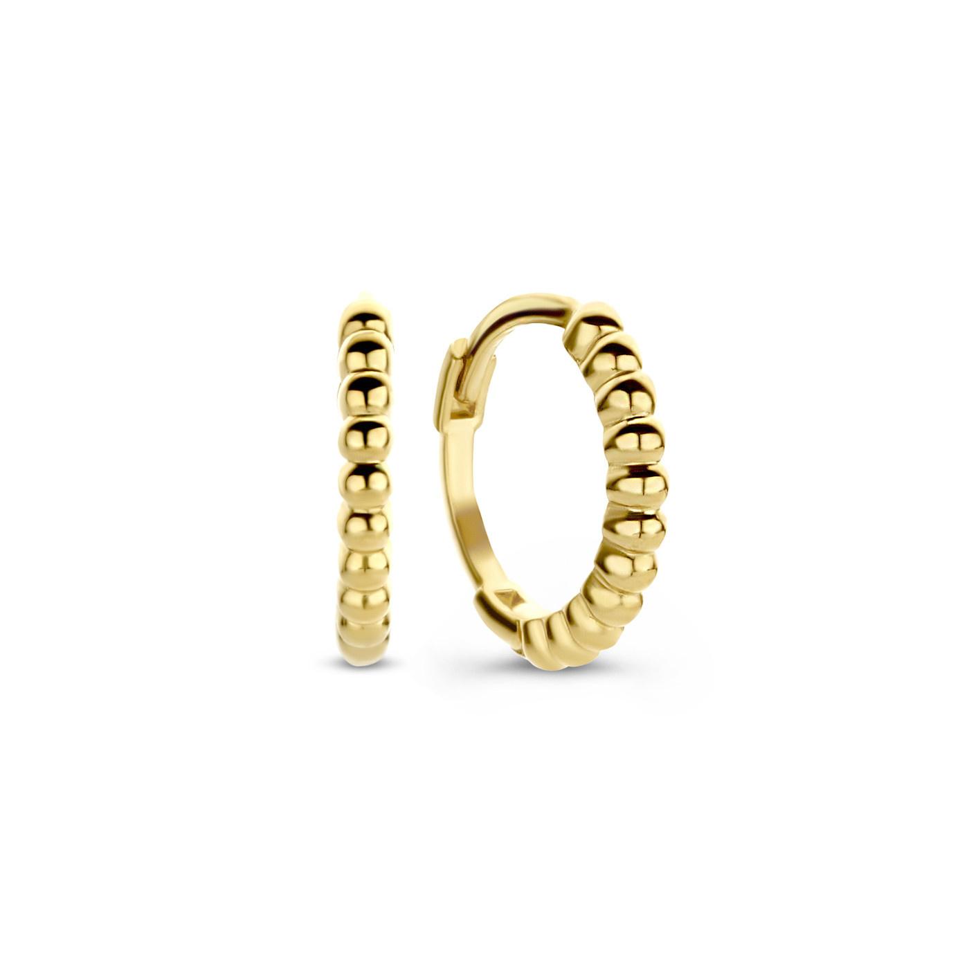 Isabel Bernard Le Marais Anne-Aurelia 14 karat gold hoop earrings twist