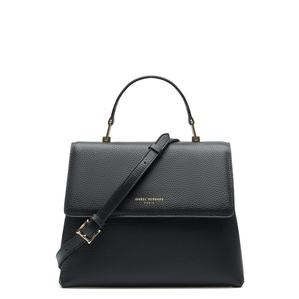 Isabel Bernard Femme Forte Gisel black calfskin leather handbag