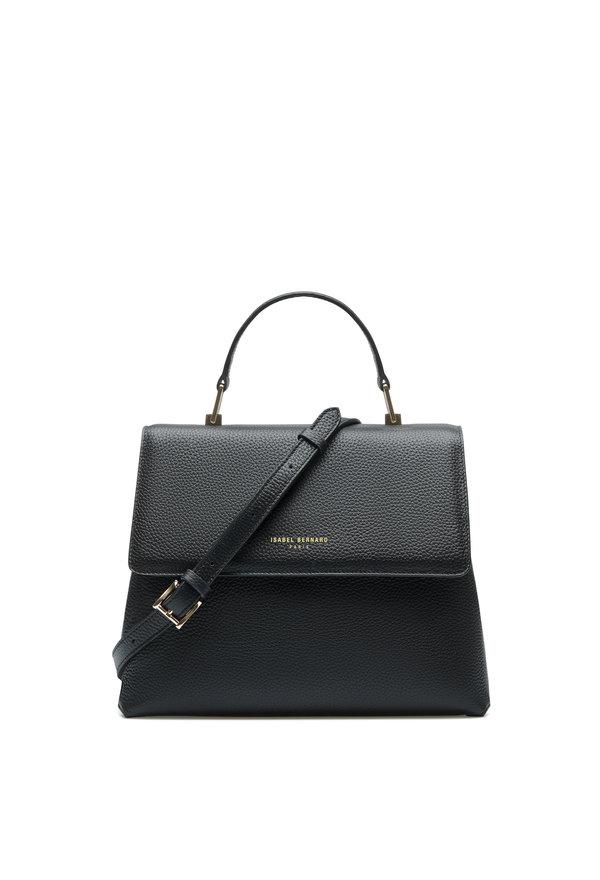 Isabel Bernard Femme Forte Gisel svart läderhandväska i kalvläder
