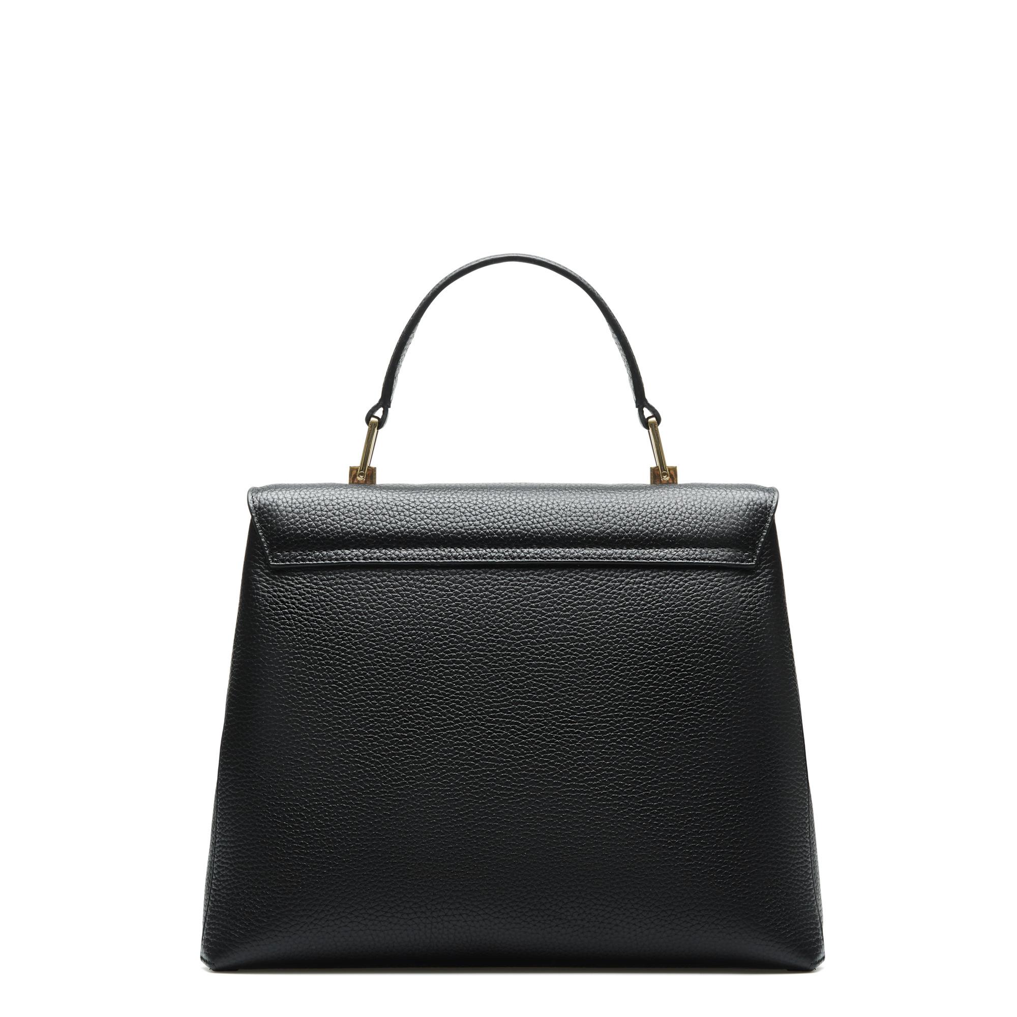 Isabel Bernard Femme Forte Gisel svart läder handväska av kalvskinn