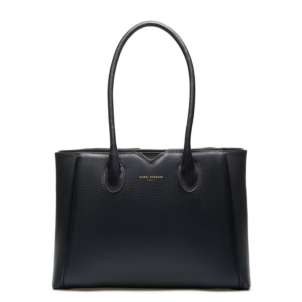 Isabel Bernard Honoré Cloe black calfskin leather handbag