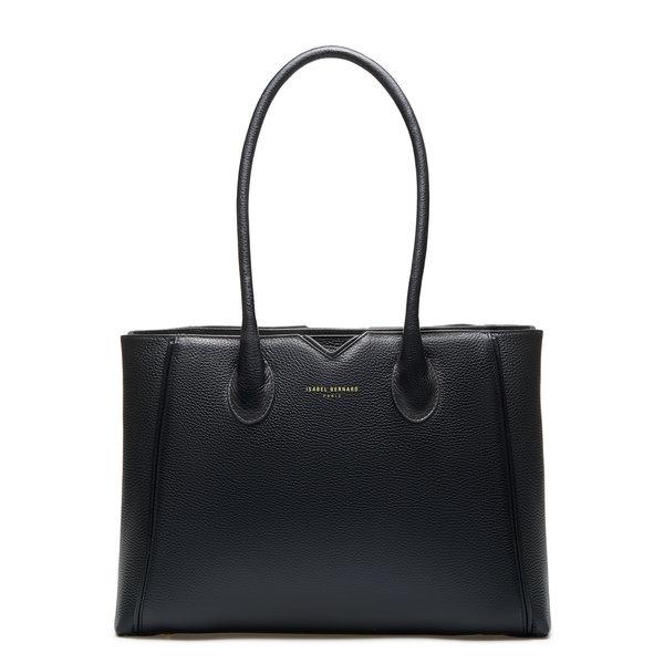 Isabel Bernard Honoré Cloe schwarze Handtasche aus Kalbsleder